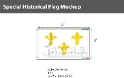 White Fleur de Lis Flags 3x5 foot