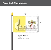 Papal Stick Flags 8x12 inch