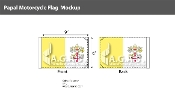 Papal Motorcycle Flags 6x9 inch