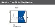 Alpha Deluxe Flags 1x1.25 foot