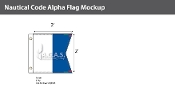 Alpha Deluxe Flags 2x2 foot