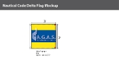 Delta Deluxe Flags 3x3 foot