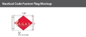 Foxtrot Deluxe Flags 1x1.25 foot