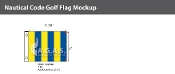 Golf Deluxe Flags 1x1.25 foot