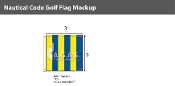 Golf Deluxe Flags 3x3 foot