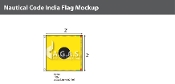 India Deluxe Flags 2x2 foot
