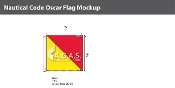 Oscar Deluxe Flags 2x2 foot