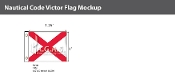 Victor Deluxe Flags 1x1.25 foot