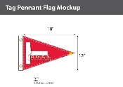 Tag Pennant Deluxe Flags 12x18 inch