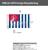 USPS Yacht Ensign Flags 12x18 inch