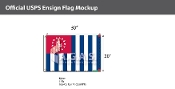 USPS Yacht Ensign Deluxe Flags 20x30 inch