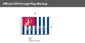 USPS Yacht Ensign Deluxe Flags 24x36 inch