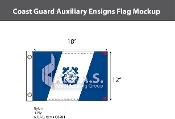 Coast Guard Auxiliary Ensign Flags 12x18 inch