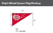 Ship's Wheel Flags 10x15 inch