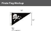 Pirate Flags 10x15 inch