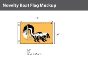 Skunk Flags 12x18 inch