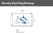 Blue Marlin Flags 12x18 inch