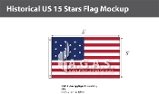 Historical US 15 Stars Flags 3x5 foot
