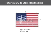 Historical US 45 Stars Flags 5x8 foot
