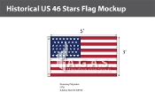 Historical US 46 Stars Flags 3x5 foot