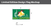 Merry Christmas Flags 3x5 foot