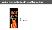Hot Buys Flags 8x2.5 foot