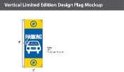Parking Flags 8x2.5 foot