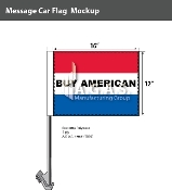 Buy American Car Flags 12x16 inch (Red, White & Blue)
