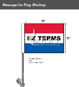 EZ Terms Car Flags 12x16 inch (Red, White & Blue)