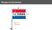 EZ Terms Premium Car Flags 10.5x15 inch (Red, White & Blue)