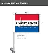 Lowest Prices Car Flags 12x16 inch (Red, White & Blue)