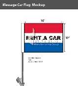 Rent A Car Car Flags 12x16 inch (Red, White & Blue)