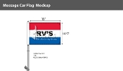 RV's Premium Car Flags 10.5x15 inch (Red, White & Blue)