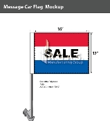 Sale Car Flags 12x16 inch (Red, White & Blue)