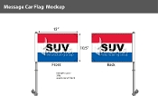 SUV Premium Car Flags 10.5x15 inch (Red, White & Blue)