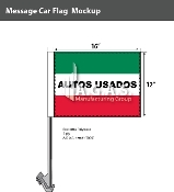 Autos Usados Car Flags 12x16 inch (Green, White & Red)