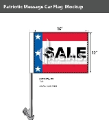 Patriotic Sale Car Flags 12x16 inch