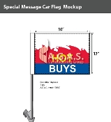 Hot Buys Car Flags 12x16 inch