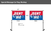 Rent Me Premium Car Flags 10.5x15 inch