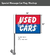 Used Cars Car Flags 12x16 inch