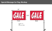 Sale Premium Car Flags 10.5x15 inch (Red)