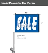 Sale Car Flags 12x16 inch (Blue)