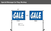Sale Premium Car Flags 10.5x15 inch (Blue)