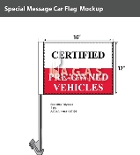Certified Pre-Owned Car Flags 12x16 inch (Blue)