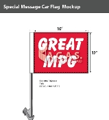 Great MPG Car Flags 12x16 inch