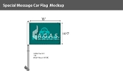 Hybrid Car Flags 12x16 inch