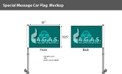 Hybrid Premium Car Flags 10.5x15 inch