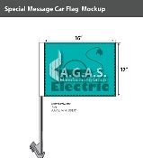 Electric Car Car Flags 12x16 inch