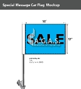 Sale Car Flags 12x16 inch (Blue & Black)