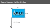 Sale Premium Car Flags 10.5x15 inch (Blue & Black)